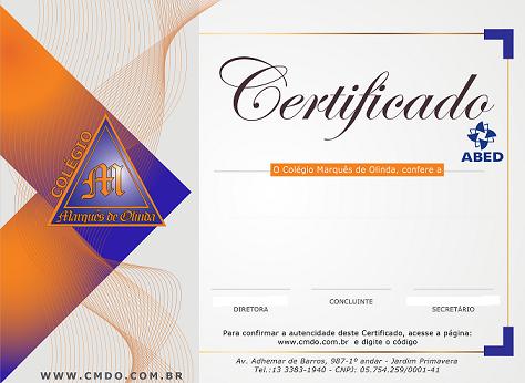 certificado miniatura